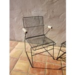 Image of John Keal Style Modern Patio Iron Armchairs