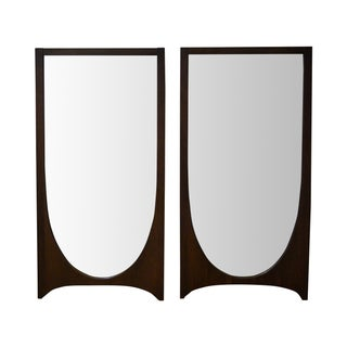 Broyhill Brasilia Walnut Wall Mirrors - A Pair
