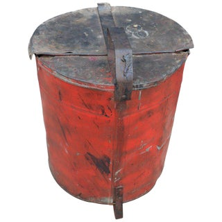 Industrial Rag Bin with Hinged Lid