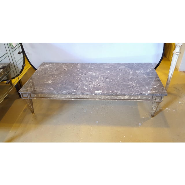Faux Marble Top Coffee Table Chairish