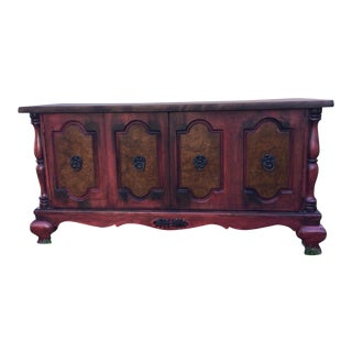 Contemporary Red Low Sideboard