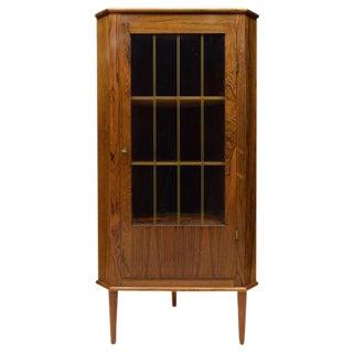 Danish Mid-Century Modern Rosewood Corner Cabinet
