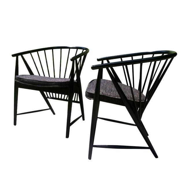 """Sonna Rosen """"Sun Feather"""" Chairs - A Pair - Image 2 of 7"""
