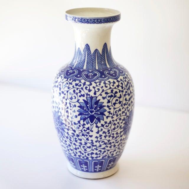 Blue & White Korean Vases - a Pair - Image 3 of 4