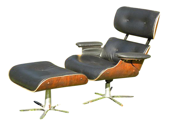 Vintage Mid Century Modern Eames Style Lounge Chair
