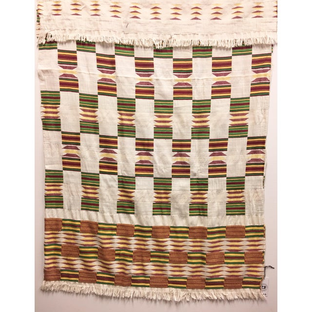 "African Tribal Vintage Textile Throw - 41"" x 79"" - Image 11 of 11"
