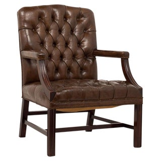Vintage English Leather Arm Chair