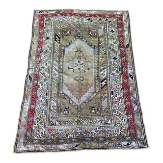 "Vintage Turkish ""Tejana"" Rug - 4'6""x3'2"""