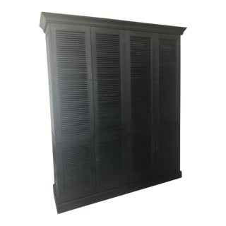 Restoration Hardware Black Armoire