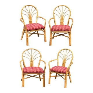 Palm Beach Style Fanback Dining Chairs, Set of 4