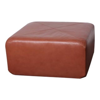 Leather Ottoman by Edward Wormley for Dunbar