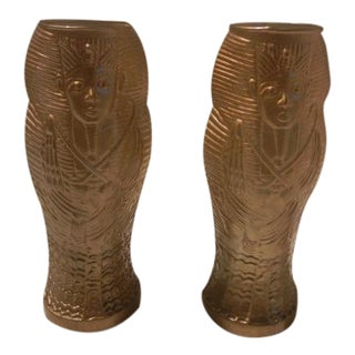 Vintage Egyptian Luxor Casino Glasses - A Pair