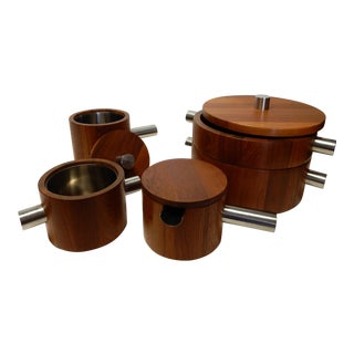 Paul Pedersen for Lundtofte Combiwood Teak & Stainless Steel Serving Set - Set of 5