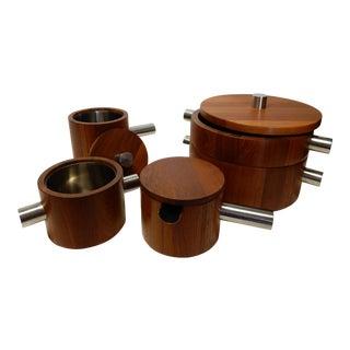 Paul Pedersen for Lundtofte Combiwood Teak & Stainless Steel Serving Set - Set of 5