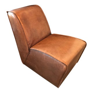 Restoration Hardware Rh Leather Bruno Lounge Chair