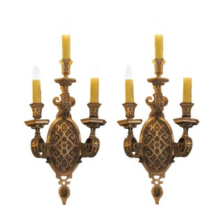 1920 Caldwell Silver Plated Sconces - A Pair