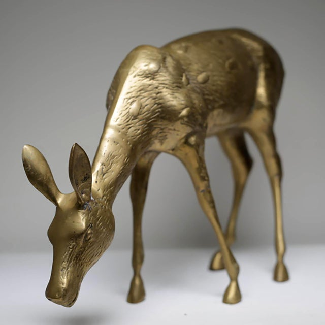 Mid-Century Modern Brass Deer - Image 3 of 6
