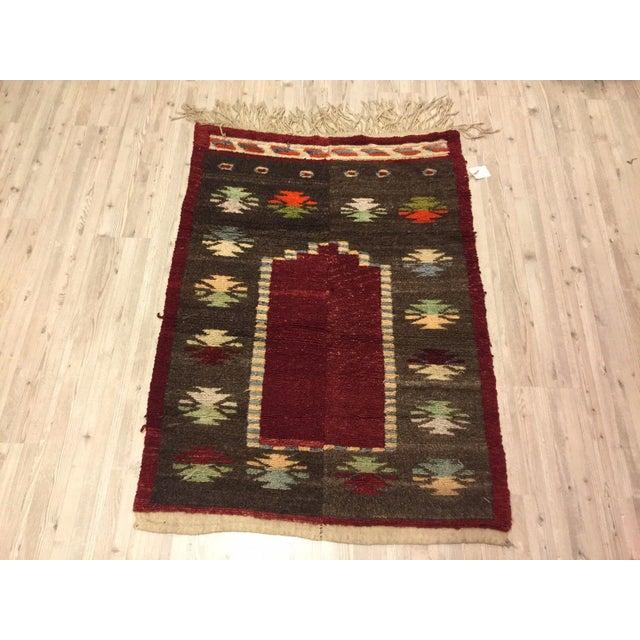 Vintage Turkish Tribal Angora Rug - 3′3″ × 4′5″ - Image 2 of 7