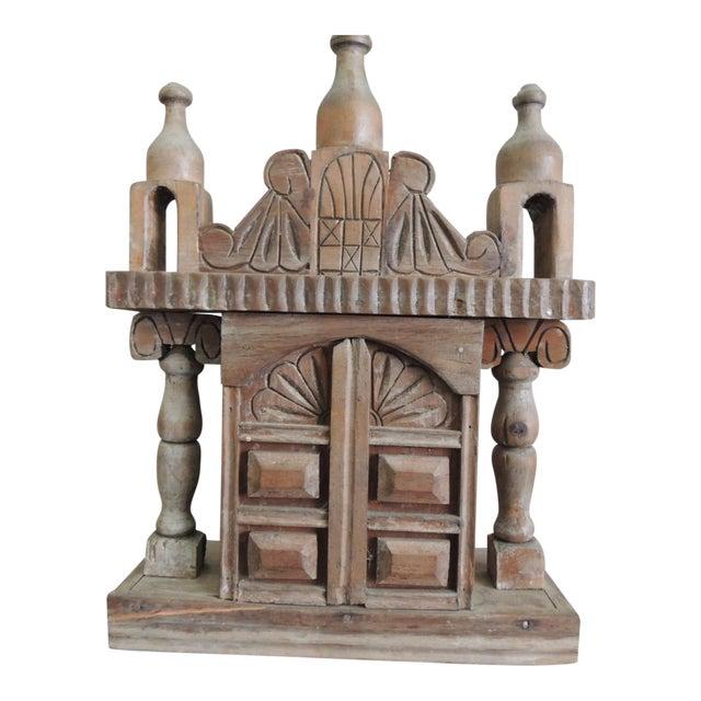 Vintage Wood Indian Hand-Carved Shrine - Image 1 of 5