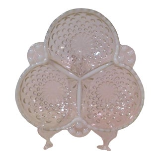 Moonstone Opalescent Divided Nut Dish