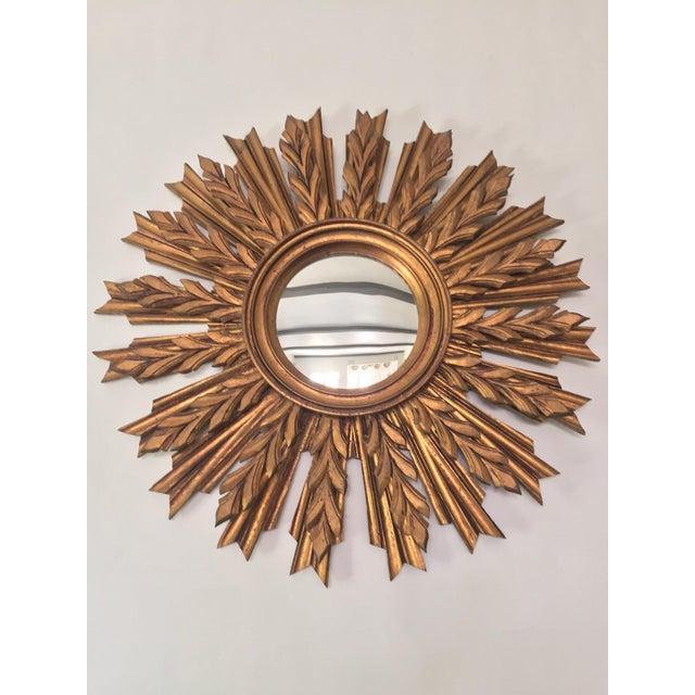 Image of Wooden Sunburst Mirror