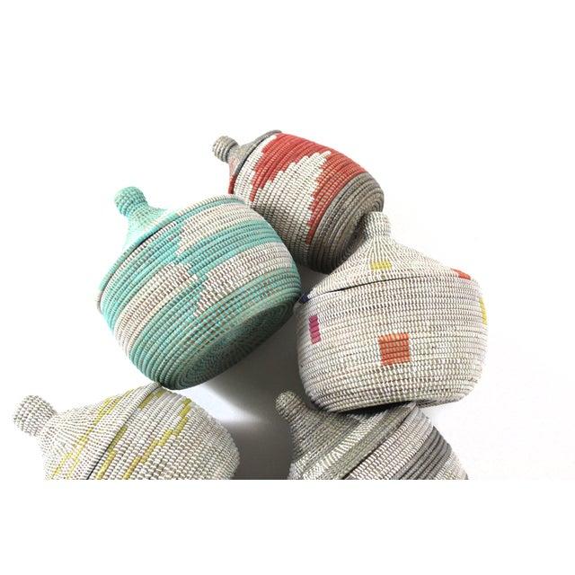 Vintage Aqua Senegal Basket - Image 2 of 3