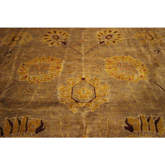 """Oushak Collection Brown Rug - 12'1"""" x 15'10"""" - Image 6 of 10"""