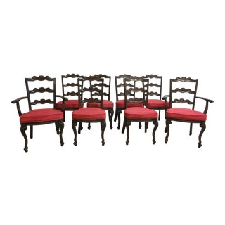 Jamestown French Oak Carved Dining Chairs - Set of 8