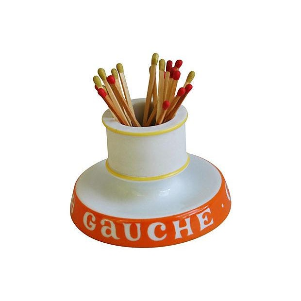 Vintage French Café Rive Gauche Match Holder - Image 1 of 6