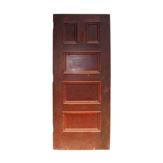 Antique 5 Panel Interior Wood Door