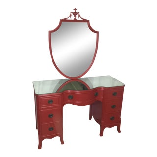 Vintage Duncan Phyfe Style Painted Vanity