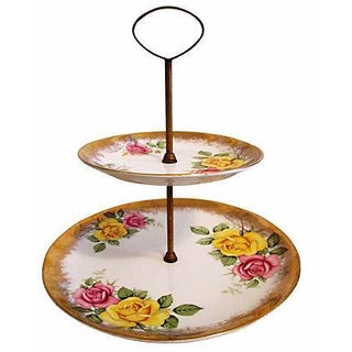22k English Brass 2-Tier Dish