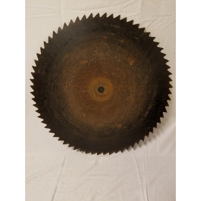 Image of Antique Handhewn Iron Circular Saw Blade
