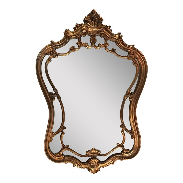 Vintage Ornate Arched Gold Mirror - Image 1 of 6