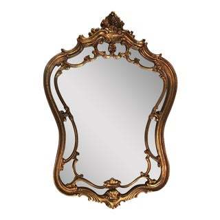 Vintage Ornate Arched Gold Mirror
