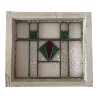 Antique Cottage Stained Glass Window