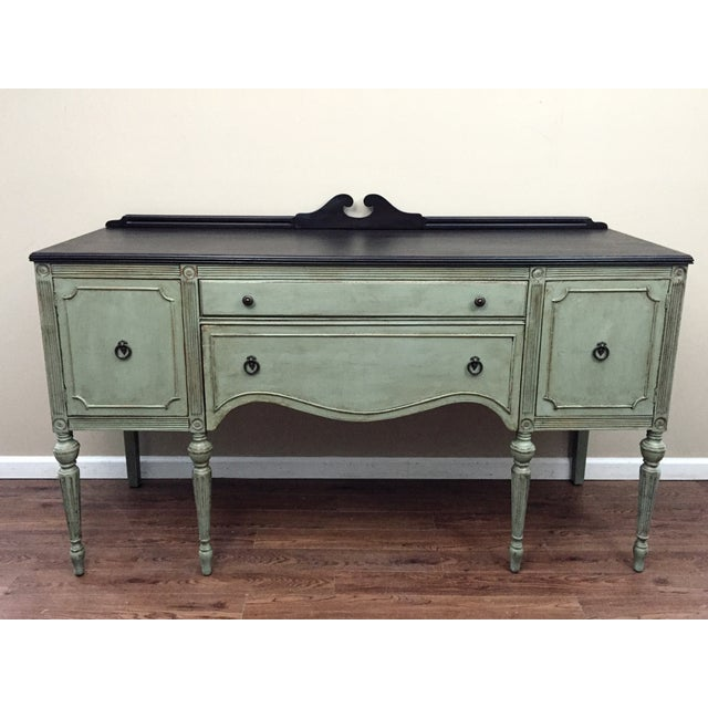 antique federal style sideboard buffet chairish. Black Bedroom Furniture Sets. Home Design Ideas