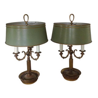 Bouillotte Table Lamps - A Pair