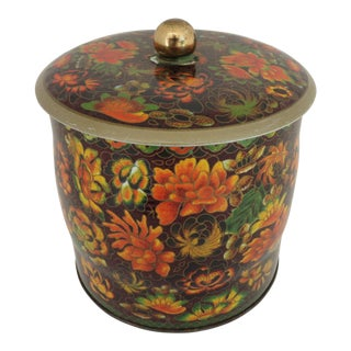 English Floral Tea Box