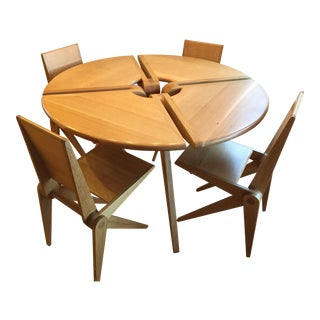 Custom Round Dining Table With 4 Chairs