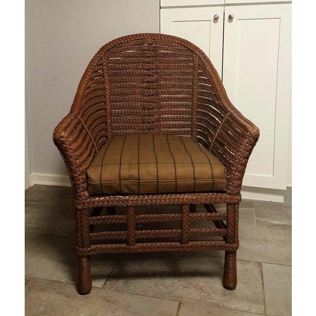 Ralph Lauren Wicker Chair - Image 3 of 6
