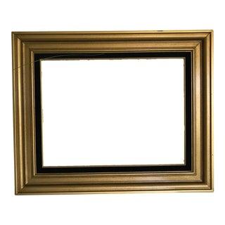 Vintage Gold & Black Velvet Wooden Frame