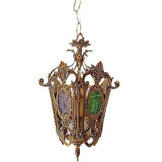 Brass Regency-Style Pendant Light