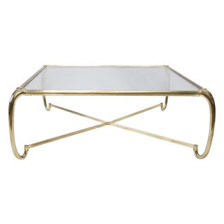 Curved Brass Mastercraft Coffee Table
