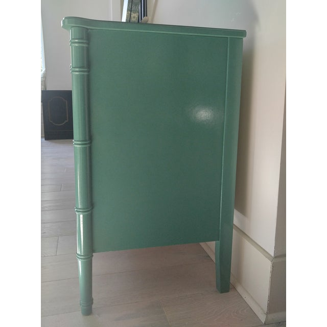 Henry Link for Dixie Green Faux Bamboo Dresser - Image 4 of 10