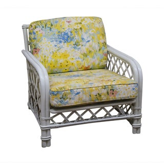 Ficks Reed Vintage Painted Rattan Lounge Chair