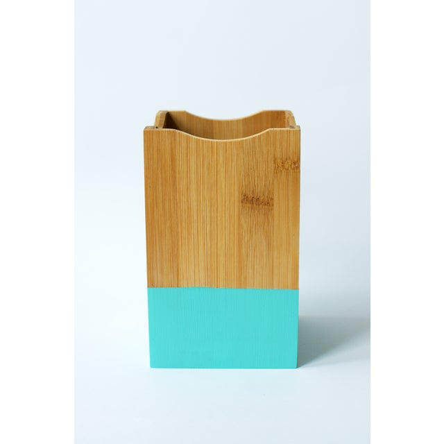 Image of Teal Utensil Set and Holder