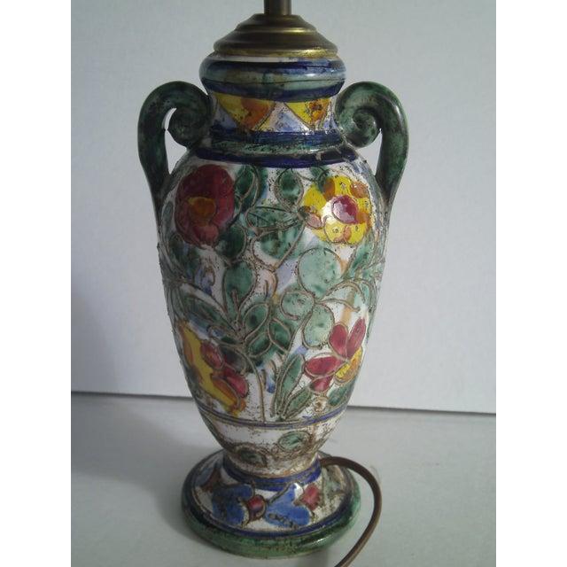 Early Mid-Century Italian Pottery Lamp - Image 5 of 9