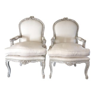 Louis XV-Style Armchairs - A Pair