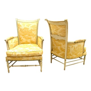 French Provincial Directoire Style Bergere - A Pair